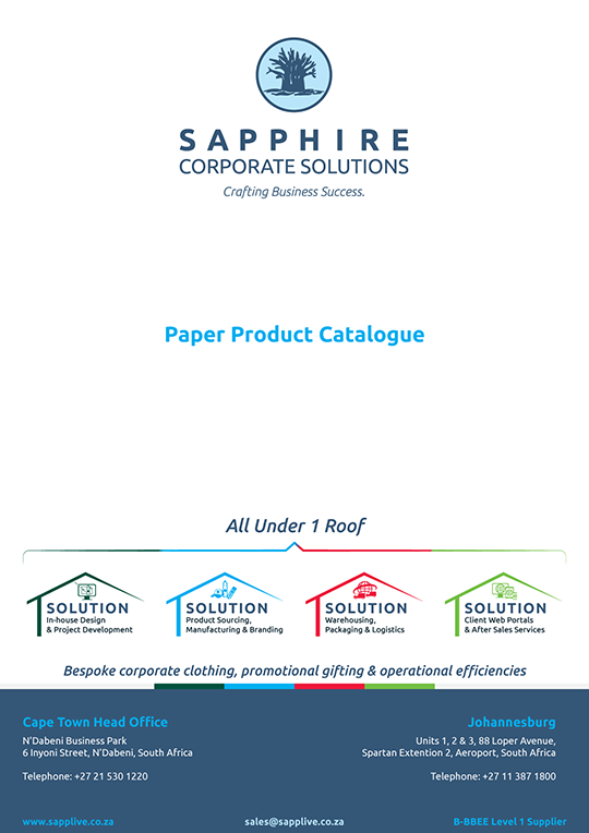 Catalogue Cover - Paper